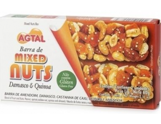 Barra de Mixed Nuts - Damasco e Quinoa- 2unid - Agtal