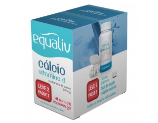 Cálcio + Vitamina D - 120 capsulas Gel - Equaliv