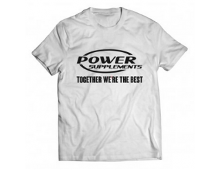 Camiseta - Power Supplements - Branca
