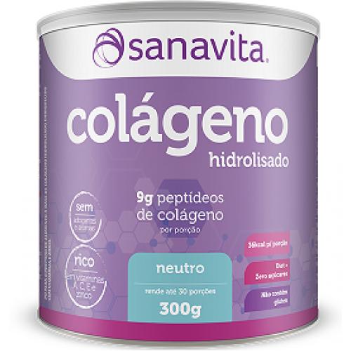 795ec7913 Colágeno Hidrolisado em pó - 300GR - SANAVITA