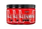 Combo 3x  Glutamine - Glutamina - Natural - Integralmédica