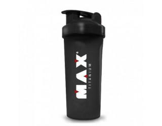 Coqueteleira Preta - 600Ml - Max Titanium