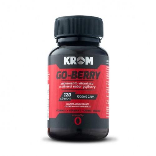 Go - Berry - Gojiberry ( 120 cápsulas ) - Krom Suplementos - Saldão