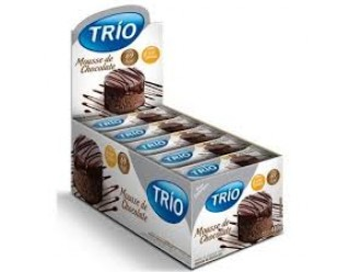 Barra trio Mousse Chocolate Light 24un - Trio Alimentos