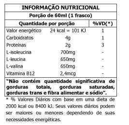 Tabela Nutricional BCAA