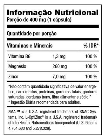 Resultado de imagem para zma black tabela nutricional