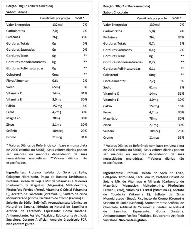 Tabela Nutricional Nutrilatina Woman