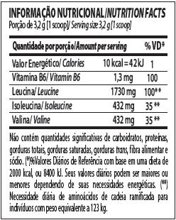 bcaa powder integralmedica tabela nutricional