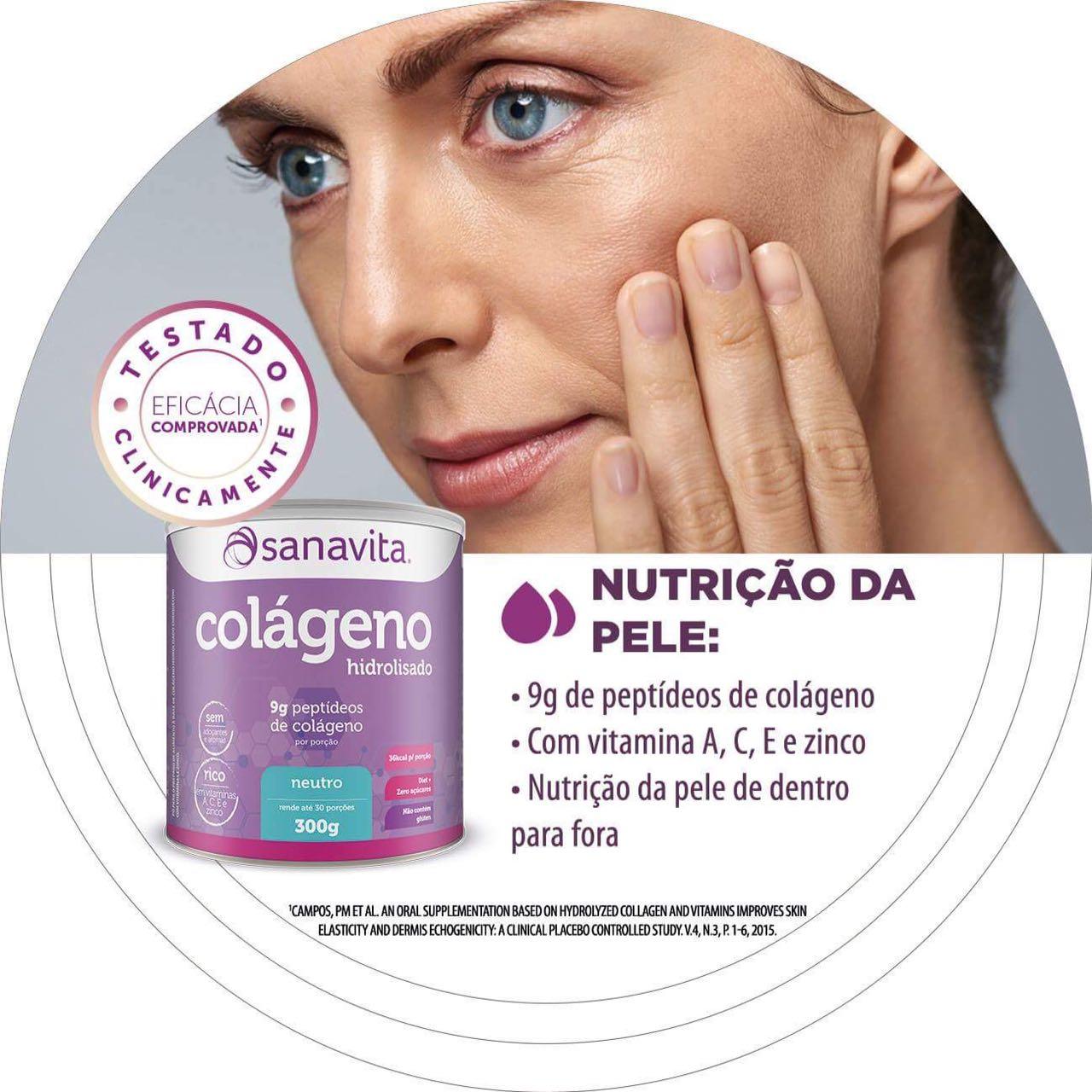 ea937ef0d O Colágeno Hidrolisado Sanavita não é recomendado em caso de alergia  alimentar a um dos componentes da fórmula. Por se tratar de um suplemento  alimentar