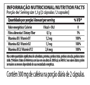 Dexadrina thermogenic Tabela Nutricional