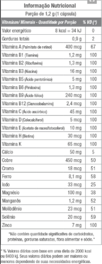 Nutri Mulher Equaliv Tabela Nutricional