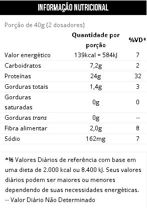 Natural Vegan Max Titanium Tabela nutricional